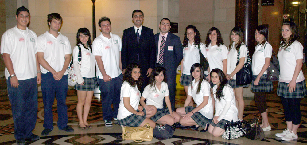 MDS Club Attends Armenian Genocide Commemoration at LA City Hall